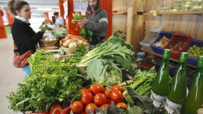 Alimentos en un supermercado. (ARCHIVO)