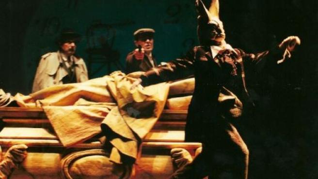 Imagen de una de las últimas representaciones del Teatro del Temple, que también participará en la Expo 2008.