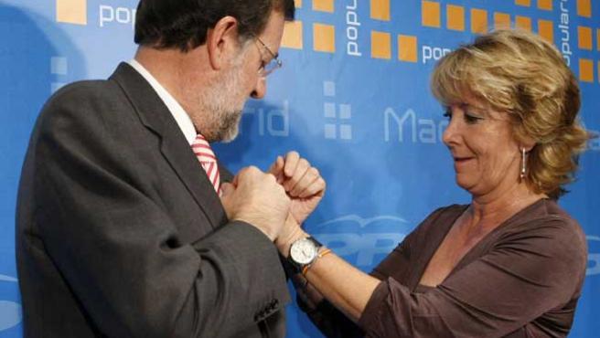Mariano Rajoy y Esperanza Aguirre, en una imagen de archivo.