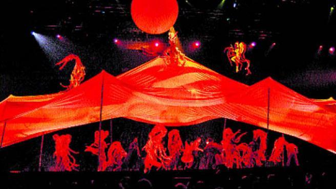 Cirque du Soleil presenta hasta el domingo en Valencia su mayor reto artístico hasta el momento.