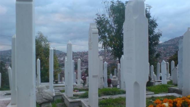 Sarajevo, vista desde el cementerio de Alifakovac (Jonás Candalija)