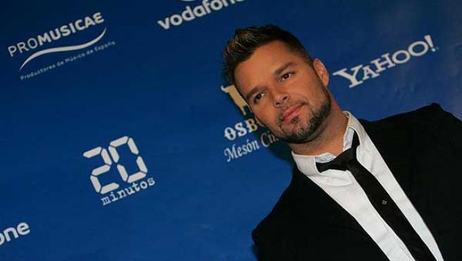 Ricky Martin, en la entrega de los Premios Amigo.