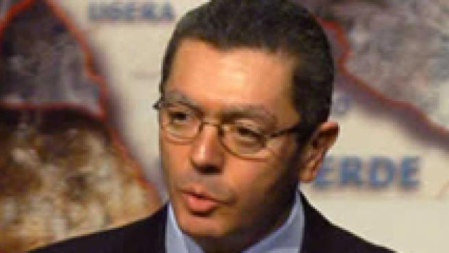 El alcalde de Madrid, Alberto Ruiz-Gallardón, durante un discurso.