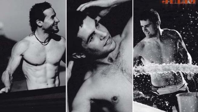 Así son alguno de los regatistas que han sido fotografiados para este calendario con estética muy marinera.