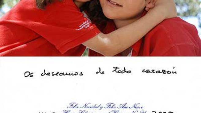 Felicitación de Navidad de la Infanta Elena y sus hijos.