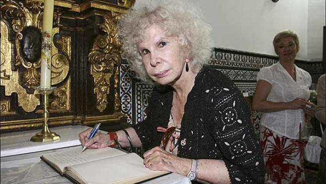 La duquesa de Alba, en una foto de archivo.