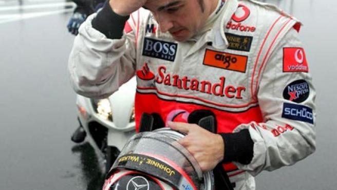 Alonso, durante un GP (Agencias).