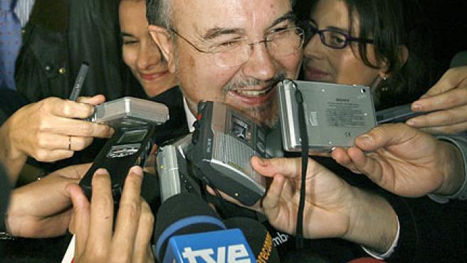 Pedro Solbes, vicepresidente segundo y ministro de Economía. (Juan Carlos Hidalgo / EFE)