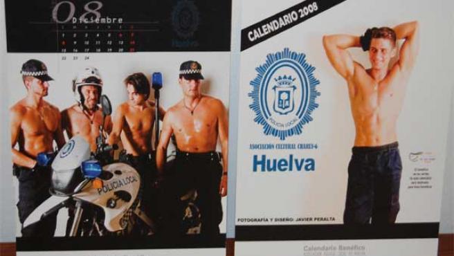 En el calendario solidario han participado policias locales de la capital.