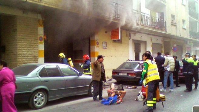 Al parecer, una estufa de butano fue el origen de la deflagración.