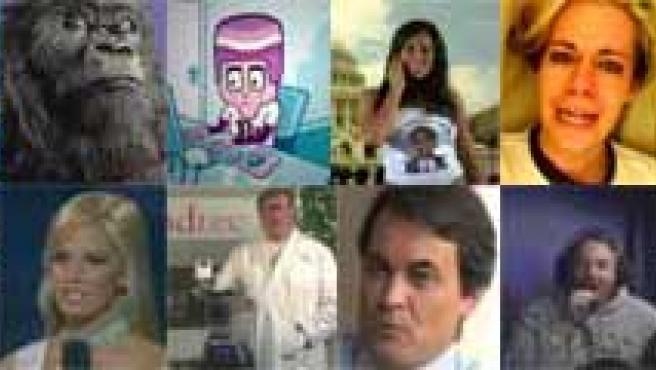 Imágenes de algunos de los vídeos.
