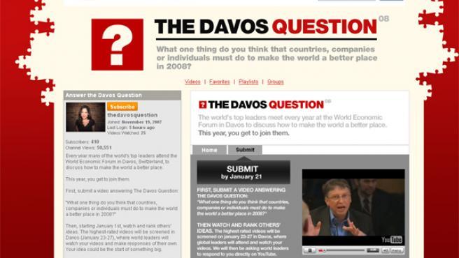 Página web de 'The Davos Question'