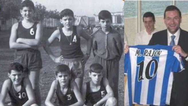 Mariano Rajoy, de niño, junto a sus compañeros del equipo de baloncesto. (PP.ES)