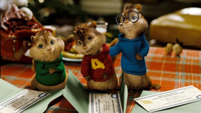Las ardillas Theodoro, Alvin y Simon.