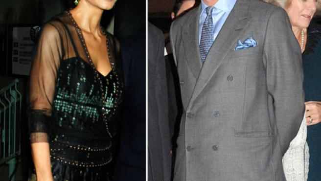 Isabel Preysler y el príncipe Carlos.