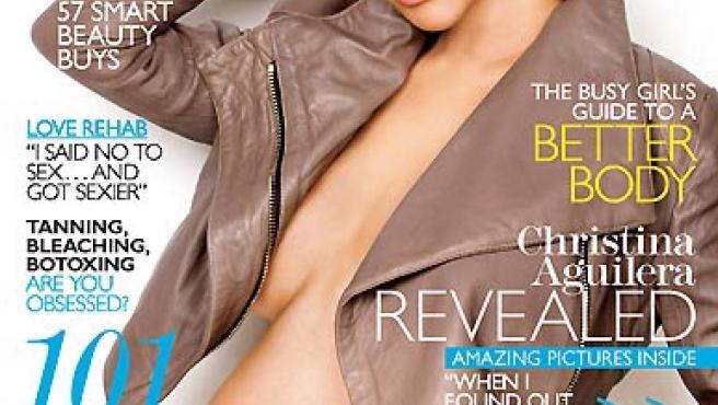 Cristina Aguilera, en la portada de 'Marie Claire' de enero.
