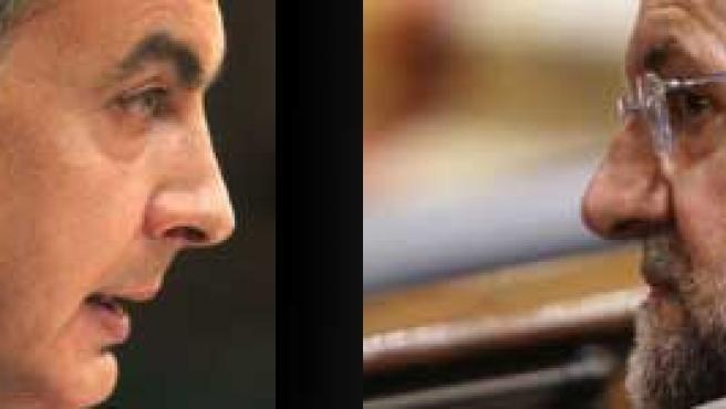 Zapatero y Rajoy, cara a cara.