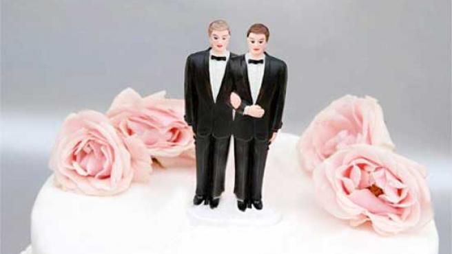 Una tarta de boda perfecta para una unión de parejas homosexuales.