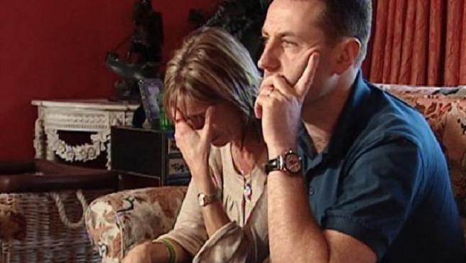 Kate y Gerry McCann, durante la entrevista concedida en exclusiva a Antena 3 (EFE).