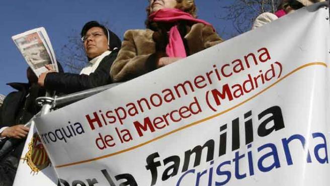 Algunas de las personas que se han congregado en Madrid.
