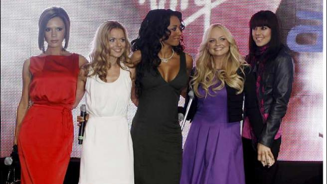 Las Spice Girls durante la gira.
