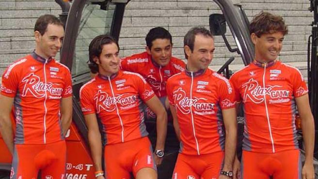 De izquierda a derecha: Santi Pérez, Dani Moreno, Óscar Sevilla, Ángel Vicioso y Paco Mancebo, los grandes nombres del Relax 2007 (J. F. C.).