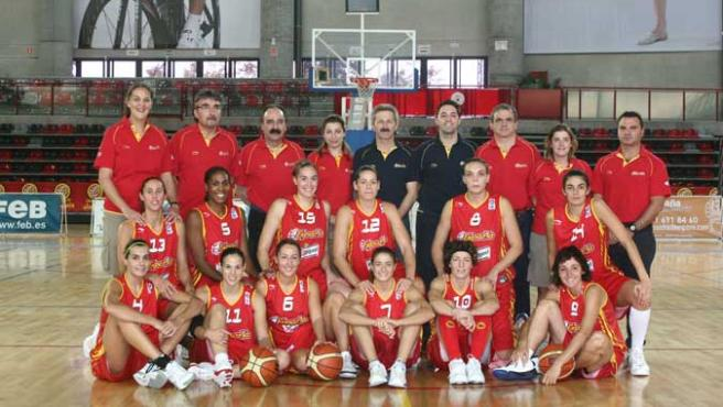 La selección española de baloncesto femenino (FEB)