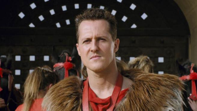 """El piloto Michael Schumacher, en una imagen de """"Astérix y los Juegos Olímpicos""""."""
