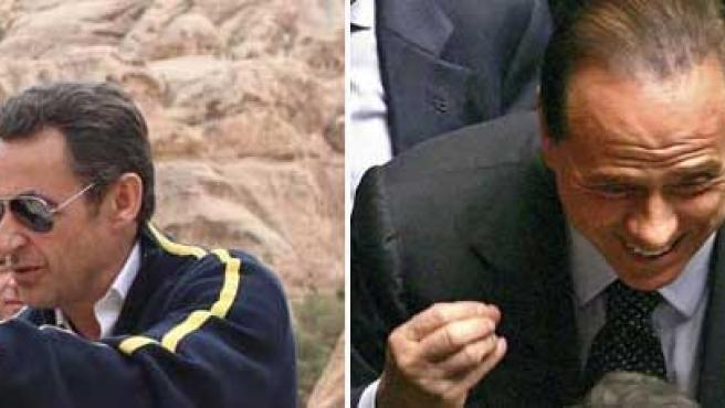Sarkozy y Berlusconi se entienden a la perfección con las mujeres.
