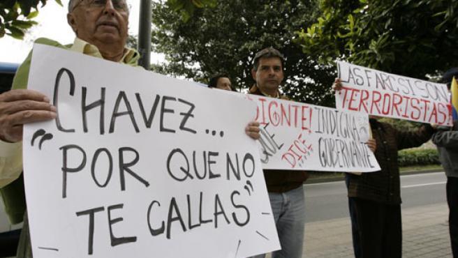 Protestas contra Chávez en Colombia. (REUTERS).