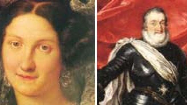 Fernando el Católico, María Cristina, Enrique IV y Fernando VII. (ARCHIVO)