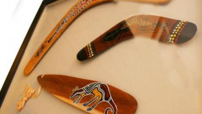 El 'boomerang' era usado por los aborígenes para cazar animales.