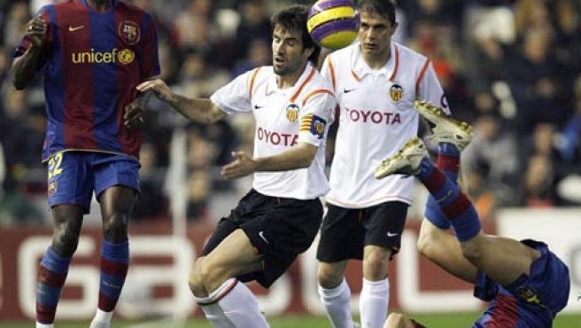 Albelda, cuando aún jugaba en el Valencia (Efe).