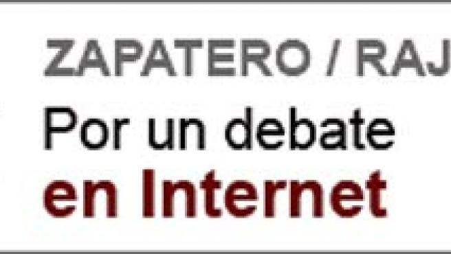 Zapatero y Rajoy con el logo de la propuesta de 20minutos.es para que realicen un debate en la red.