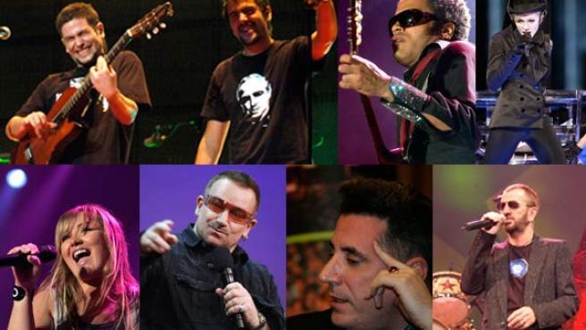 Algunos de los artistas que sacarán un disco al mercado en este 2008.