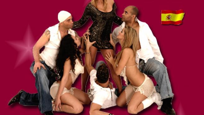 Malena Gracia en su cartel promocional.