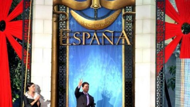 Tom Cruise durante la inauguración de la sede de la Cienciología en Madrid, en septiembre de 2004. ARCHIVO