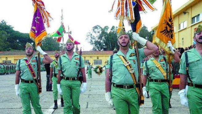 La despedida a la V Bandera se desarrolló con un Sábado Legionario (J.S.).