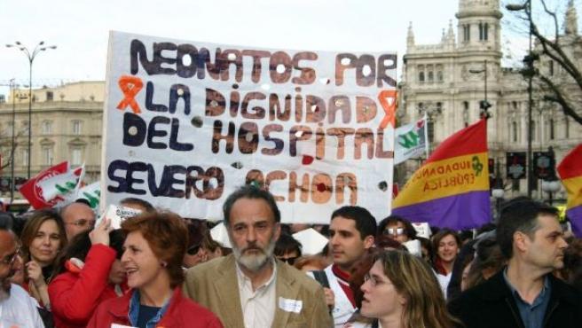 Protestas por el caso Severo Ochoa.