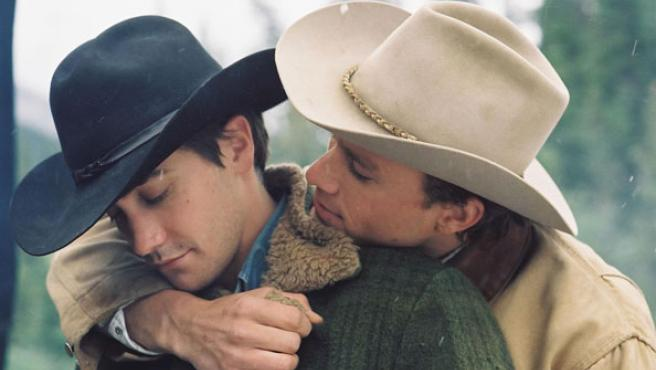 Heath Ledger y Jake Gyllenhaal en 'Brokeback Mountain'.