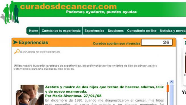 La página web curadosdecancer.com (FOTO:CURADOSDECANCER.COM)