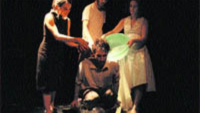 Un momento de la obra de teatro que se estrena este fin de semana en Vigo.