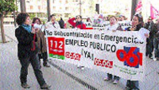 Los trabajadores del servicio de emergencias 112.
