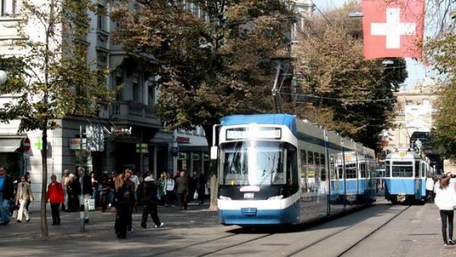 The Bahnhofstrasse, Zurich.