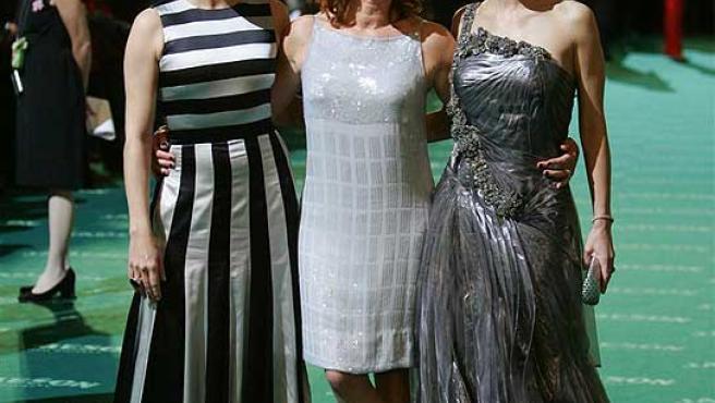 De izquierda a derecha: Blanca Portillo, Gracia Querejeta y Maribel Verdú. (Jorge París)