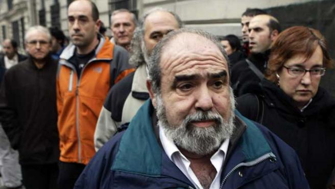 Kepa Bereziartua, presidente de ANV, esta mañana en la Audiencia Nacional en Madrid (REUTERS / Sergio Pérez)