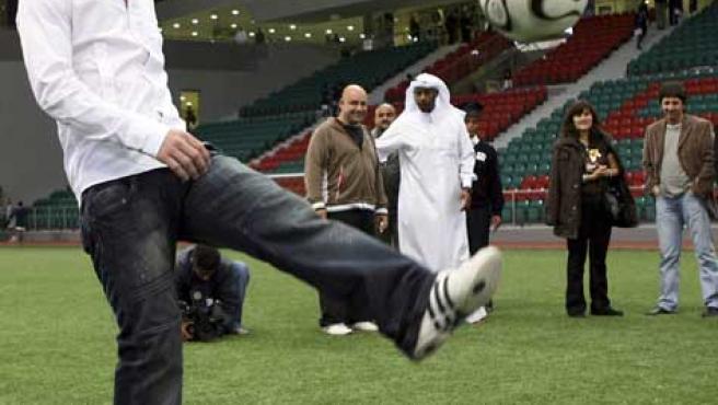 Messi durante un acto publicitario en Qatar, el pasado día 13 (REUTERS).