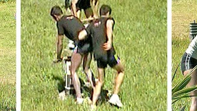 Los 'Supervivientes', realizando la prueba de líder.