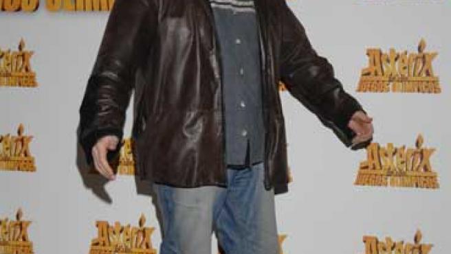 Santiago Segura en la premier de Astérix.