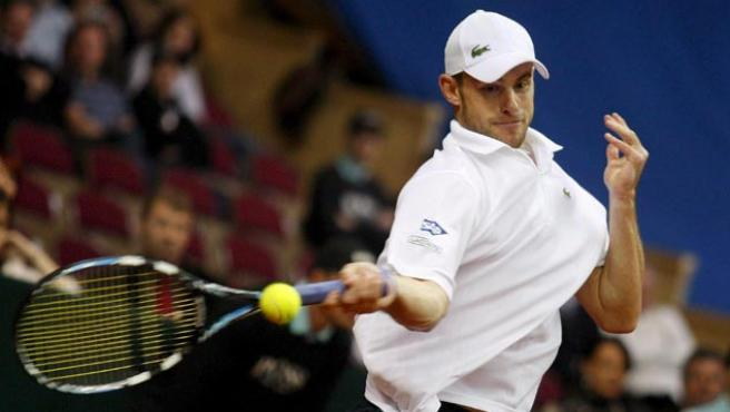 Roddick, en su eliminatoria ante Austria. (EFE)